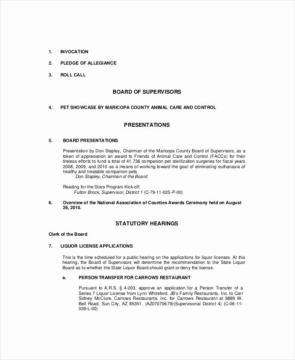 Formal Meeting Agenda Template New formal Meeting Agenda Template – 7 Free Word Pdf