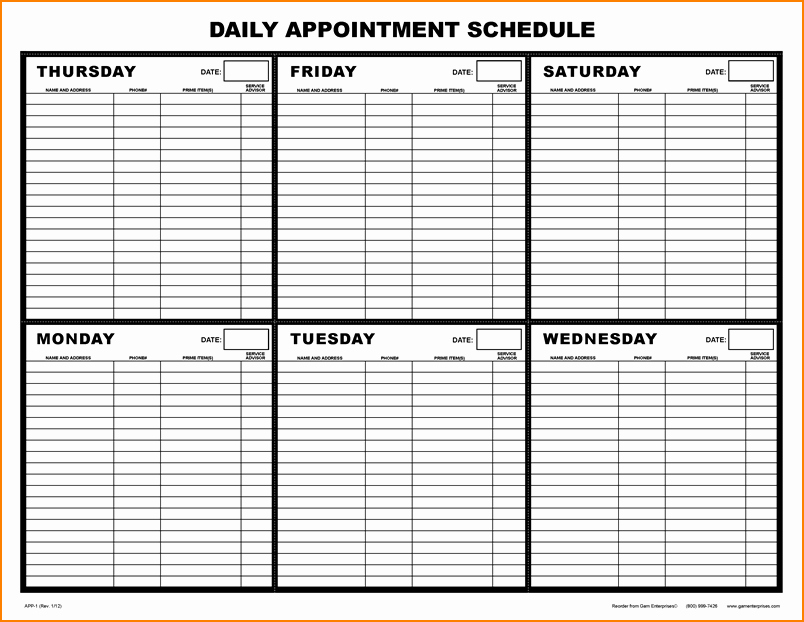 Free Appointment Calendar Template Fresh Printable Calendar Schedule – Calendar Template 2018