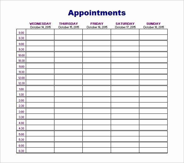 Free Appointment Calendar Template New 21 Appointment Schedule Templates Doc Pdf