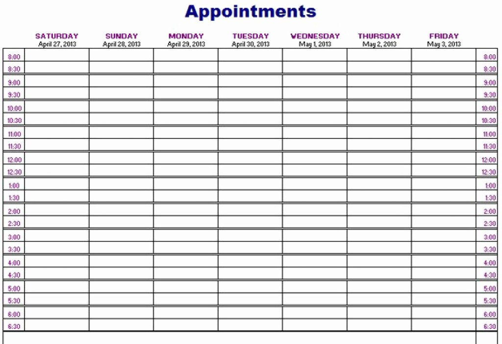 Free Appointment Calendar Template Unique Printable Appointment Calendar Printable 360 Degree