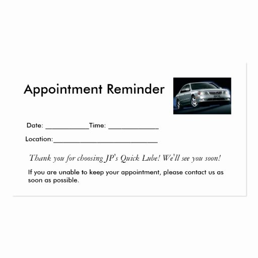 Free Appointment Card Template Beautiful Appointment Reminders Business Card