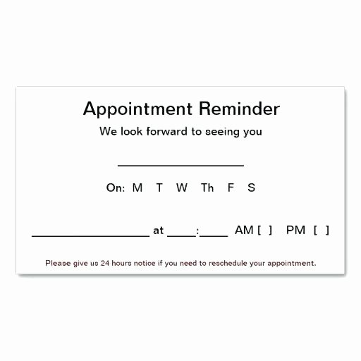 Free Appointment Card Template Elegant Dentist Appointment Card Template Full Size Business