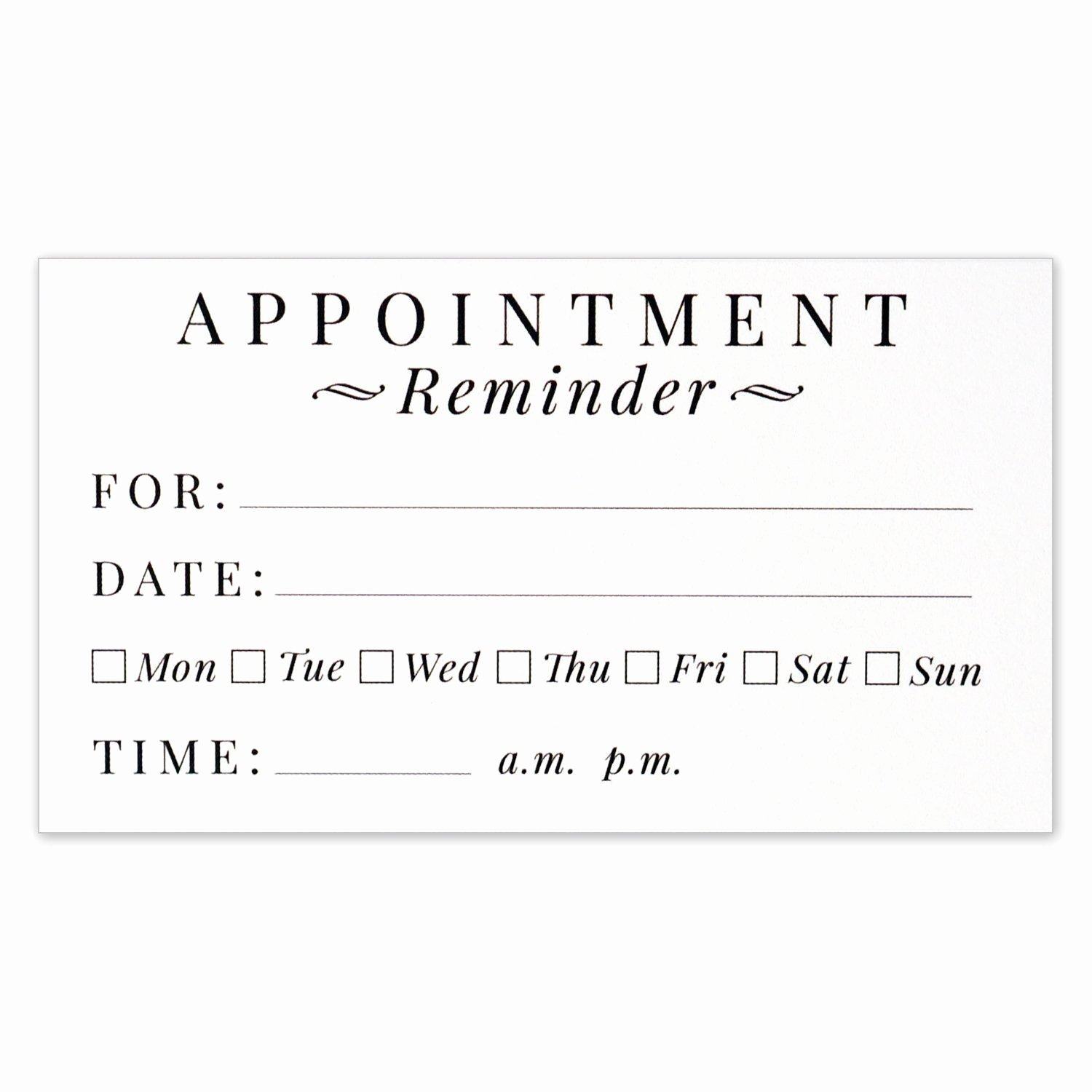 Free Appointment Card Template Fresh Dental Appointment Cards Bing Images