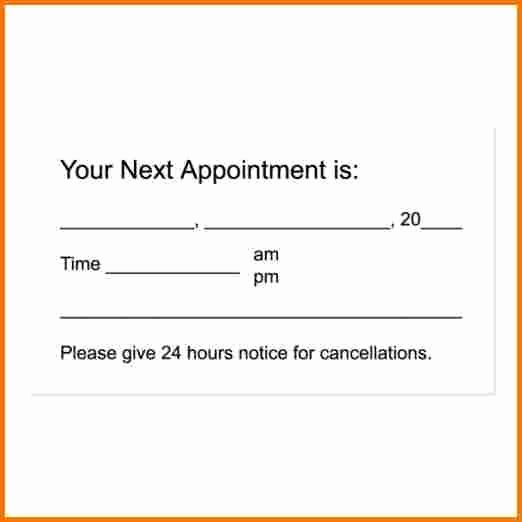 Free Appointment Card Template Inspirational Appointment Cards Template
