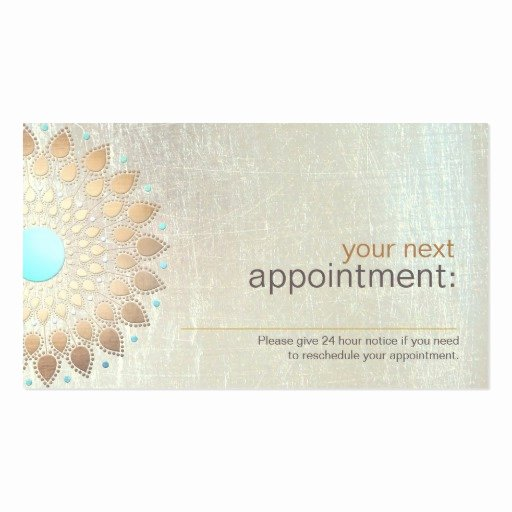 Free Appointment Card Template Inspirational Gold Lotus Salon and Spa Appointment Card Double Sided