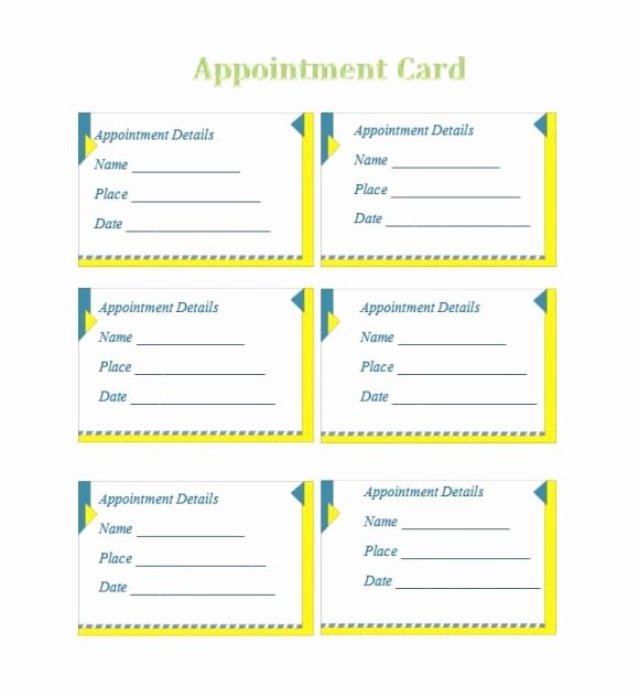 Free Appointment Card Template Luxury 40 Appointment Cards Templates & Appointment Reminders