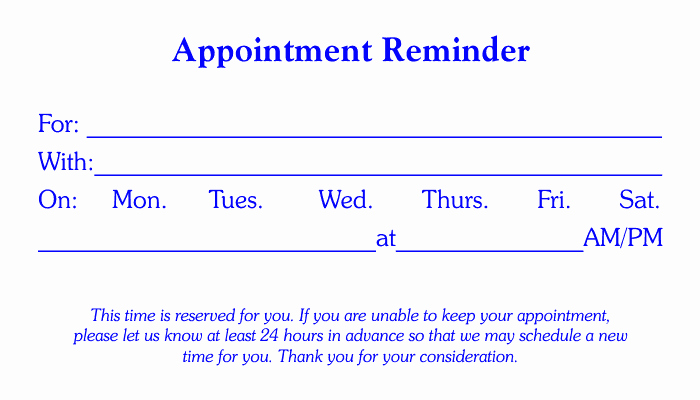 Free Appointment Card Template Luxury Free Business Stationary Templates