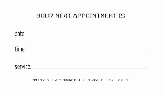 Free Appointment Card Template New Custom Card Template Appointment Reminder Cards Free