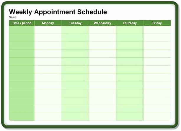 Free Appointment Schedule Template Best Of Weekly Appointment Schedule Template – Bestuniversitiesfo