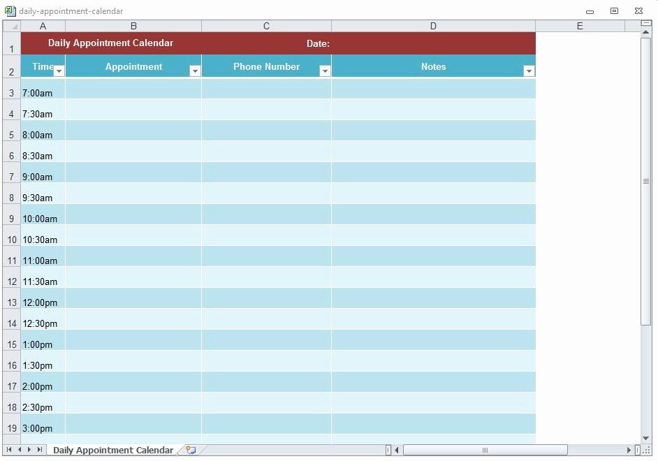 Free Appointment Schedule Template Elegant Appointment Scheduling Template Word Excel