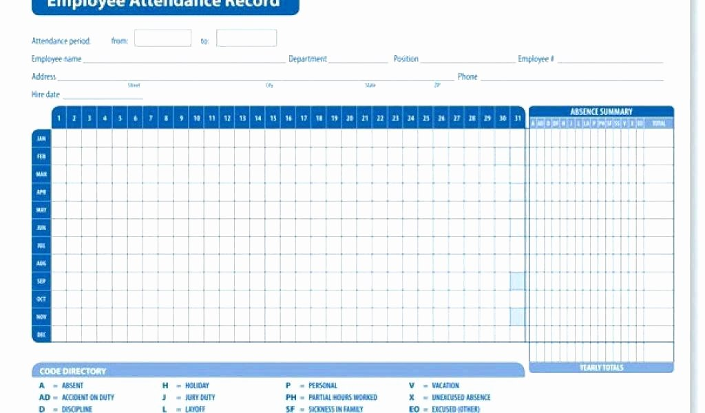 Free attendance Tracker Template Awesome Employee attendance Record form Database Excel Template