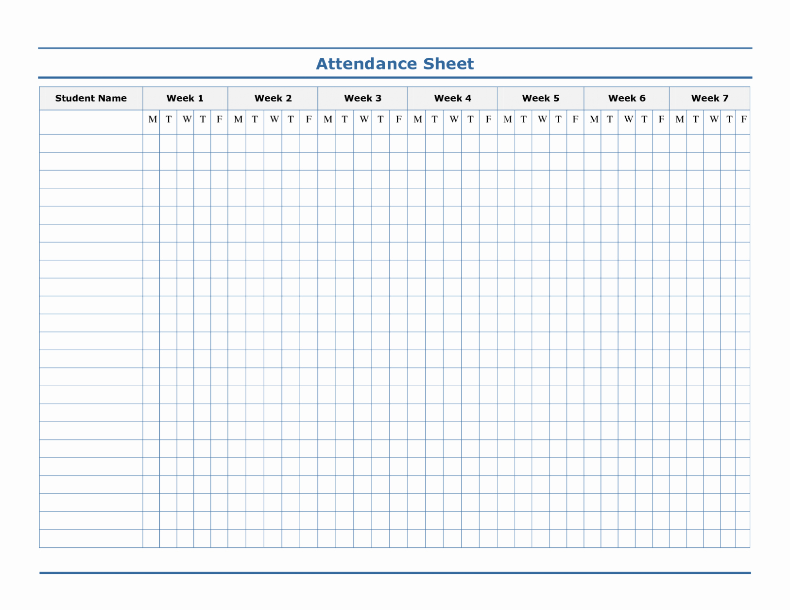 Free attendance Tracker Template Beautiful Printable Employee attendance Sheet Excel 2018