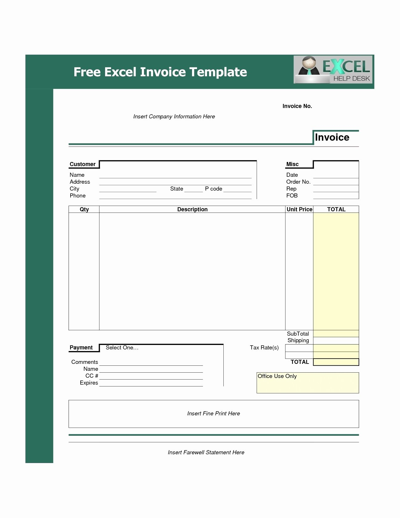 Free Billing Invoice Template Awesome Invoice Template Free Download Excel Invoice Template Ideas