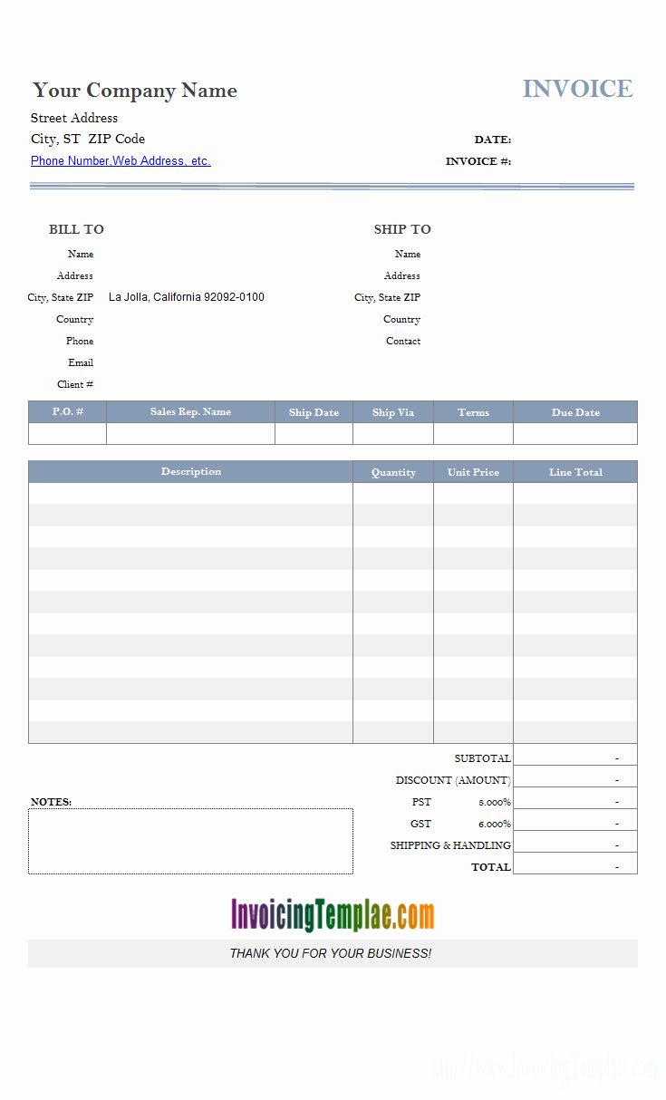 Free Billing Invoice Template Best Of Access Invoice Template Free