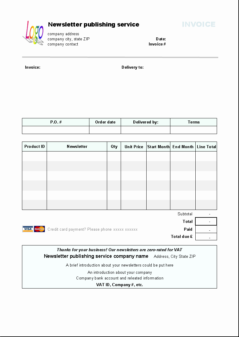 Free Billing Invoice Template Best Of Download Puter Service Invoice Template for Free