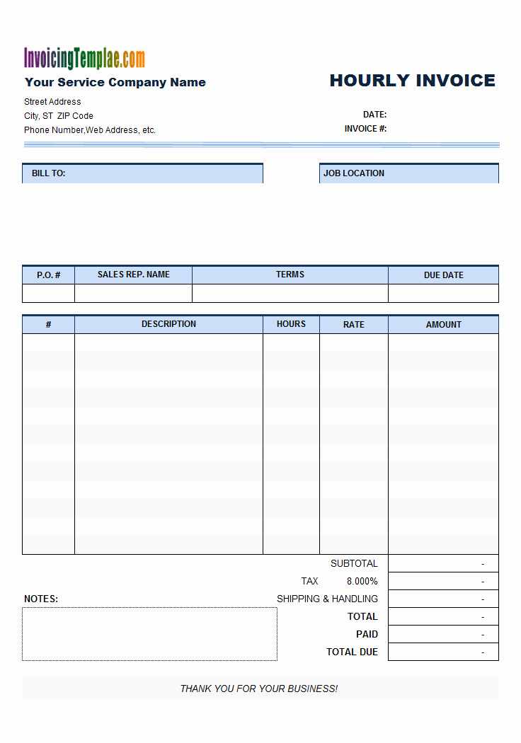 Free Billing Invoice Template Best Of Free Invoice Template for Hours Worked 20 Results Found