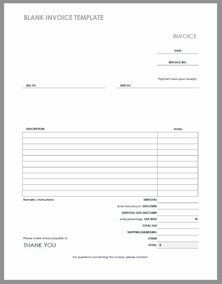 Free Billing Invoice Template Fresh 55 Free Invoice Templates