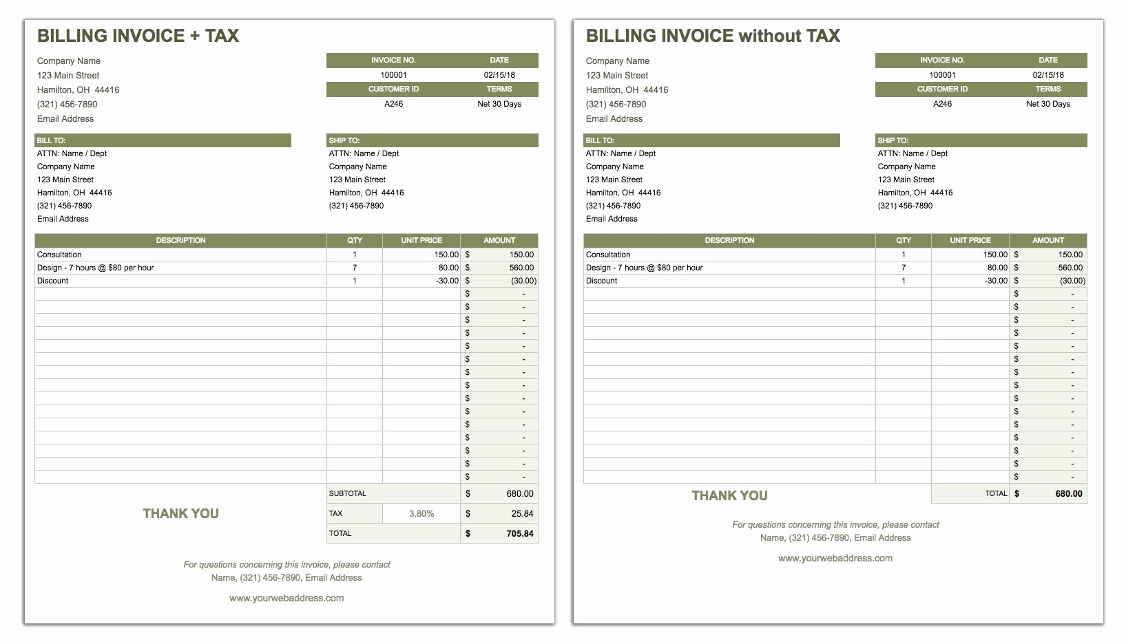 Free Billing Invoice Template Lovely 55 Free Invoice Templates