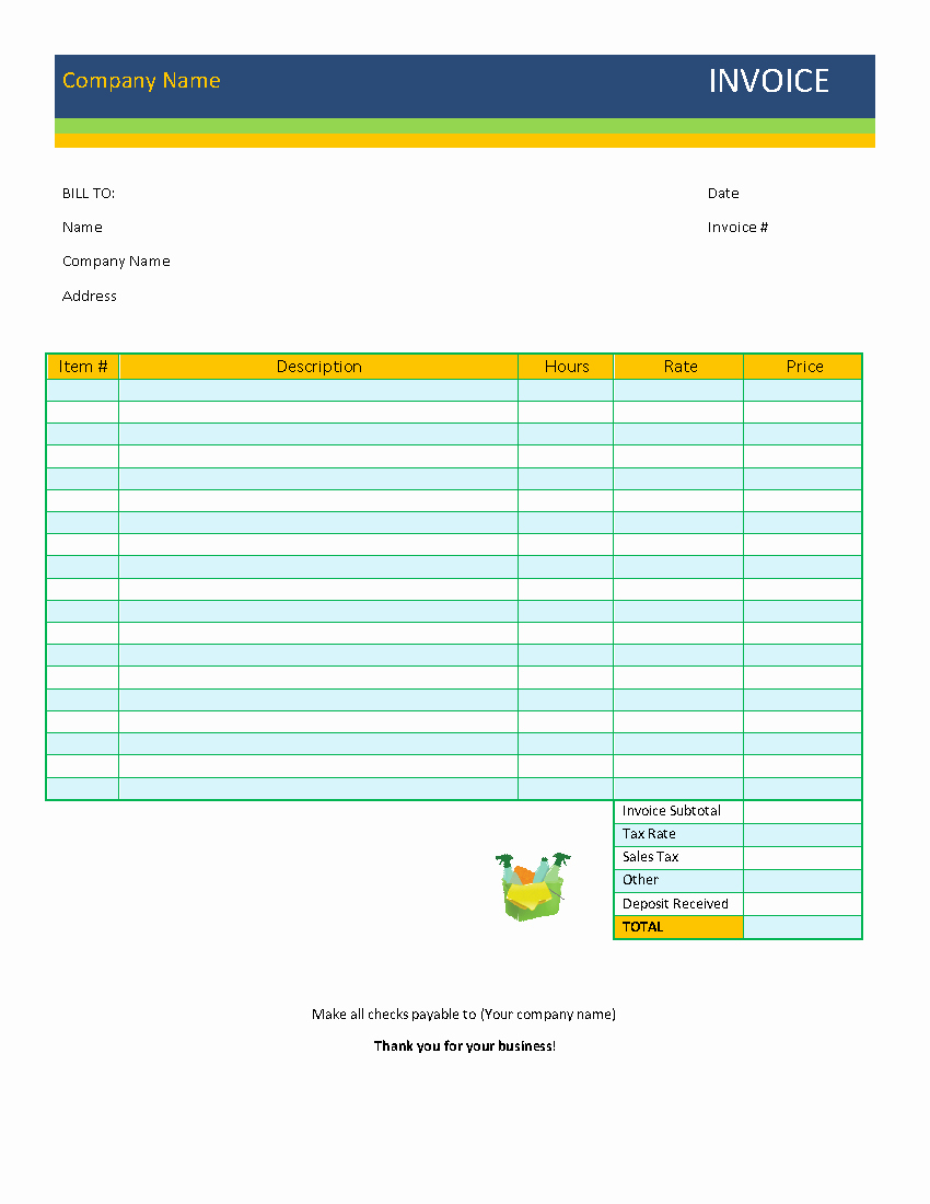 Free Billing Invoice Template New 39 Best Printable Billing Invoice Template Examples Thogati