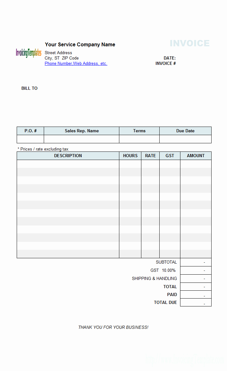 Free Billing Invoice Template Unique Contractor Invoice Templates Free 20 Results Found