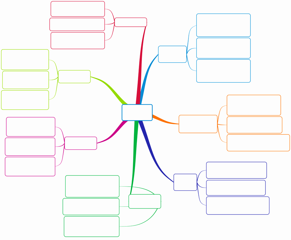 Free Blank Mind Map Template Elegant Blank Mind Map Clipart Best