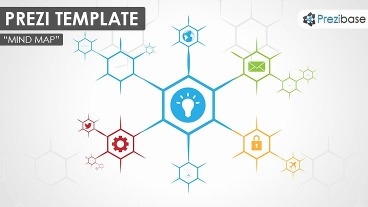 Free Blank Mind Map Template New Prezi Template for Creating A Simple and Colorful Hexagon