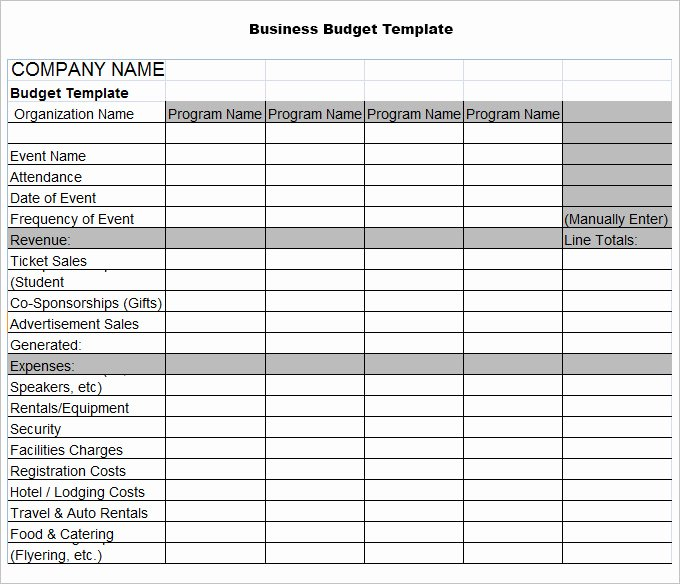 Free Business Budget Template Elegant 4 Business Bud Templates Word Excel Pdf