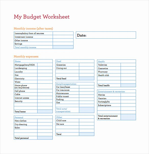 Free Business Budget Template Fresh Bud Spreadsheet Template 3 Free Excel Documents