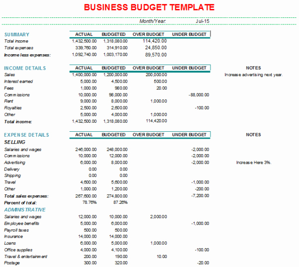 Free Business Budget Template Fresh Business Bud Spreadsheet Template Bud Spreadshee