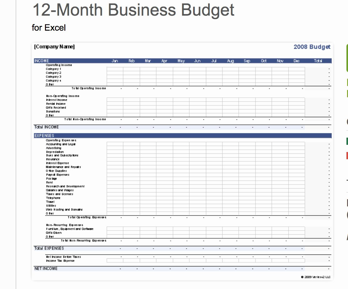 Free Business Budget Template Inspirational Business Operating Expense Template Business Spreadshee