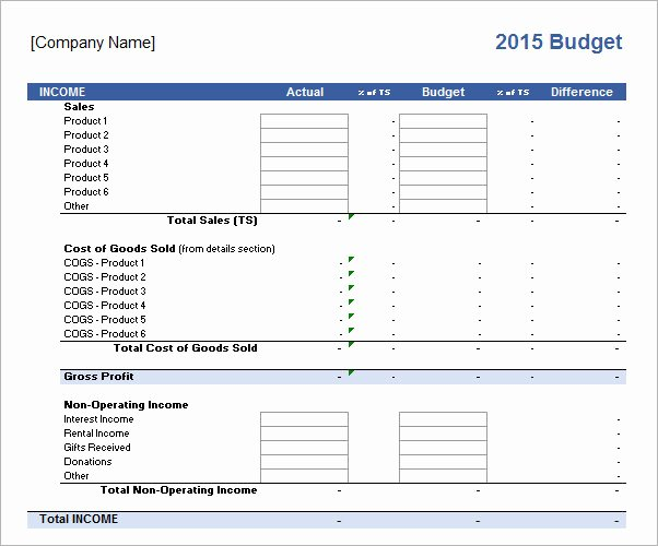 Free Business Budget Template Lovely 10 Sample Business Bud Templates