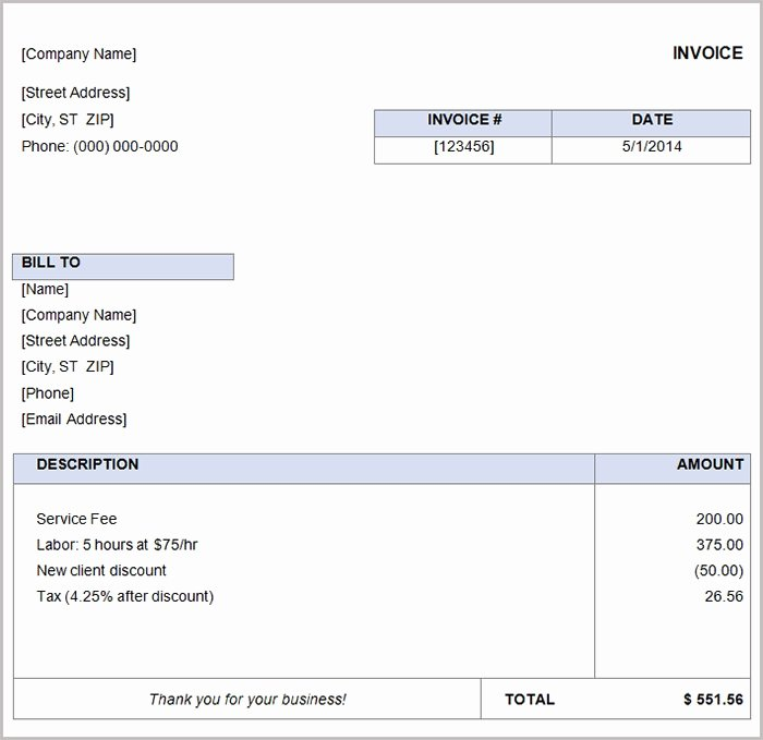 Free Business Invoice Template New 38 Free Basic Invoice Templates