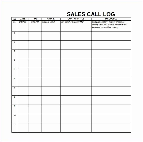 Free Call Log Template Best Of Call Log Template