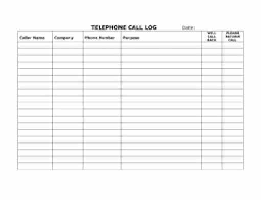 Free Call Log Template Unique top 5 Resources to Get Free Call Log Templates Word