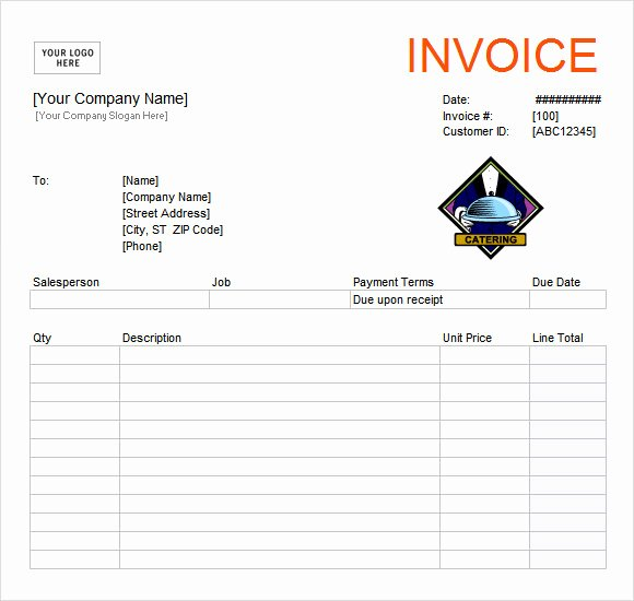 Free Catering Invoice Template Awesome 11 Catering Invoice Templates – Free Samples Examples
