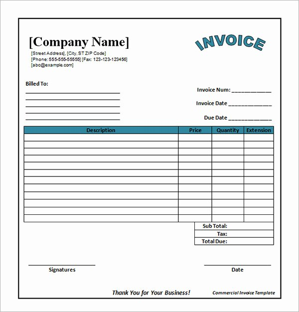 Free Catering Invoice Template Awesome 53 Blank Invoice Template Word Google Docs Google Sheets