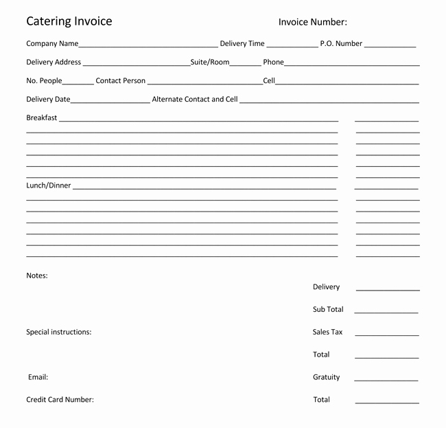 Free Catering Invoice Template Elegant Free Catering Invoice Template Five Shocking Facts About
