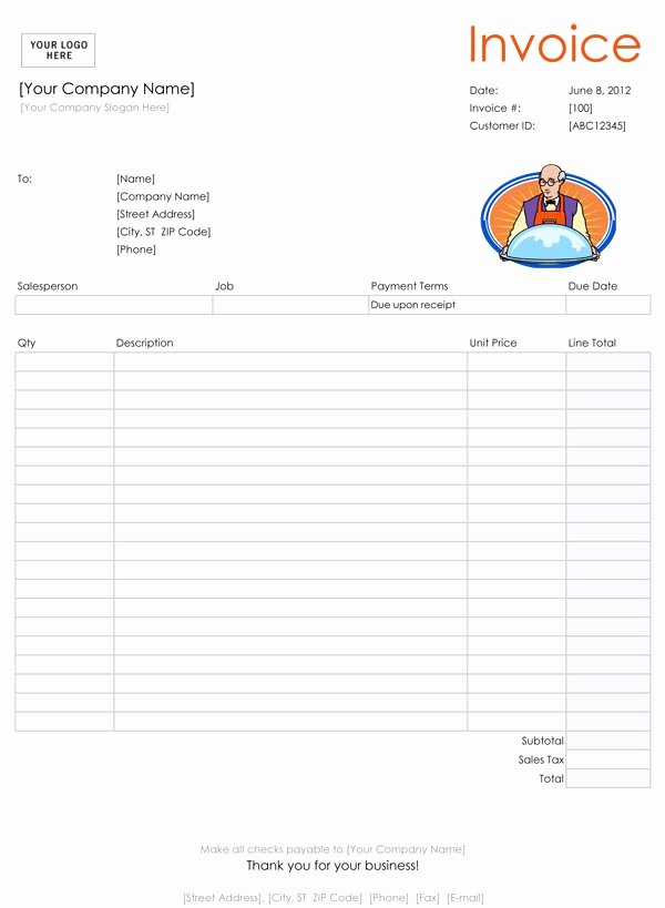 Free Catering Invoice Template New 28 Catering Invoice Templates Free Download Demplates