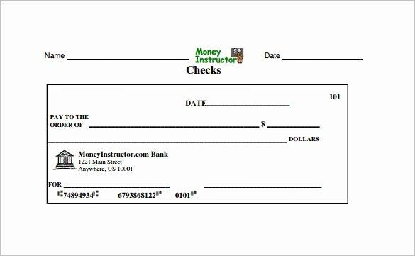 Free Check Printing Template Elegant Print Sample Blank Checks Bank Check Writing Template