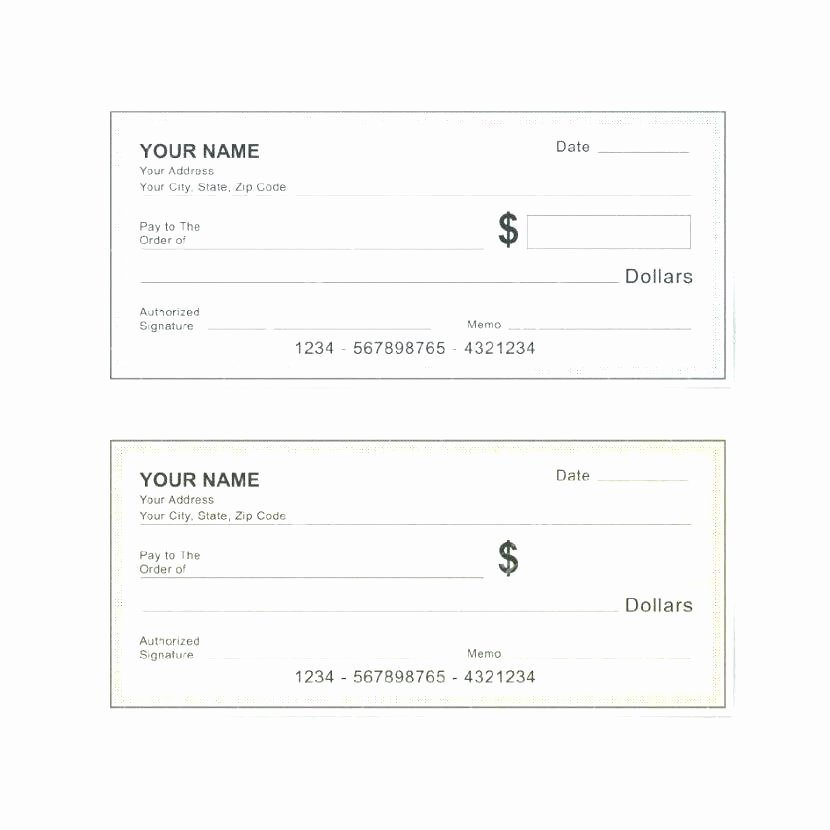 Free Check Printing Template Lovely Editable Blank Check Template Free Cheque Template