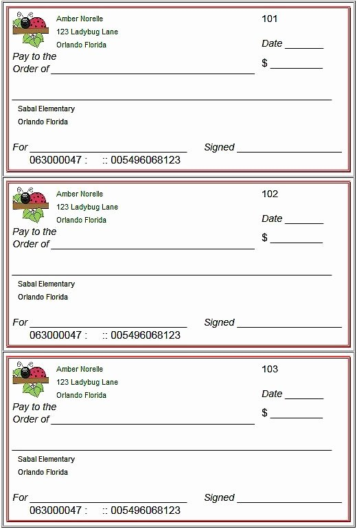 Free Check Printing Template Luxury Blank Checks Template Printable Play Checks for Kids