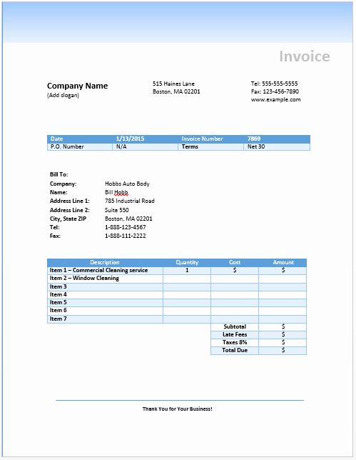Free Cleaning Invoice Template Awesome Cleaning Invoice Template Uk