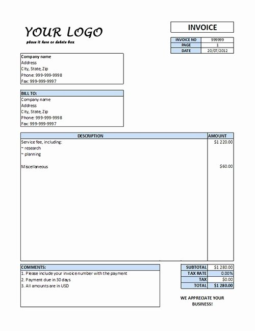 Free Cleaning Invoice Template Best Of Free Service Invoice Template Word