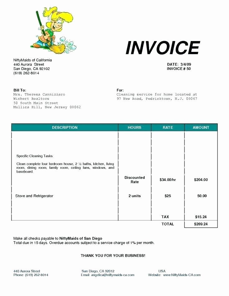 Free Cleaning Invoice Template Luxury House Cleaning Invoice Sample Rusinfobiz