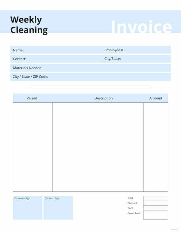 Free Cleaning Invoice Template New Cleaning Invoice Template 7 Free Word Pdf Documents