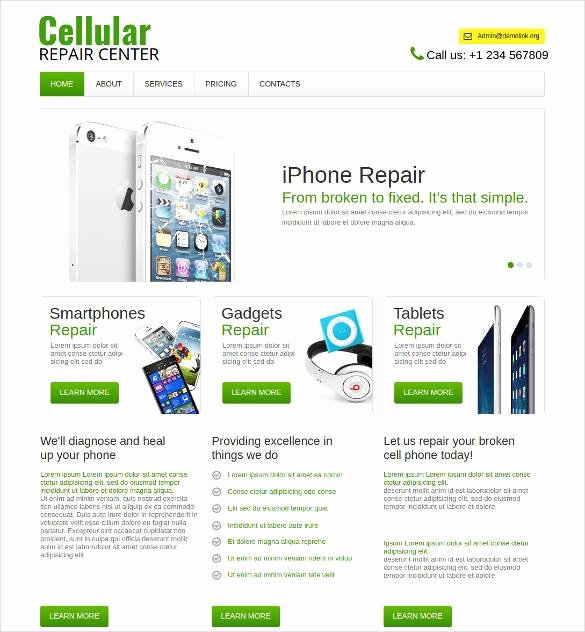Free Computer Repair Website Template Awesome 28 Puter Repair Website themes & Templates