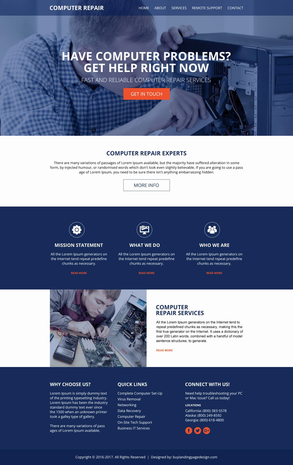Free Computer Repair Website Template Awesome Puter Repair Services Website 01