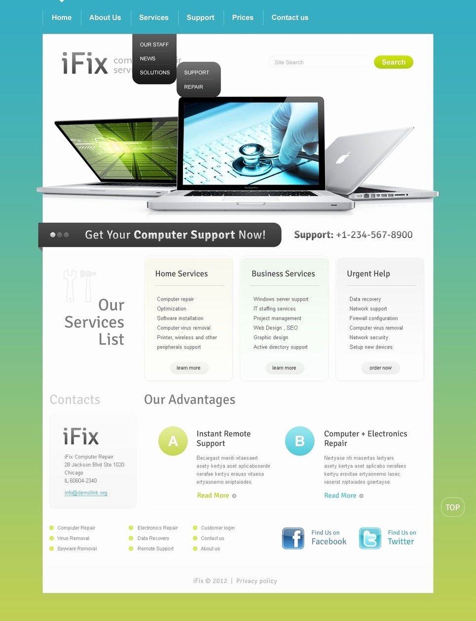 Free Computer Repair Website Template Awesome Puter Repair Website Template