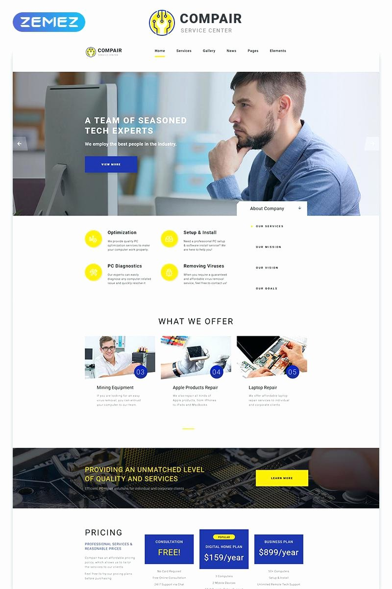 Free Computer Repair Website Template Awesome Puter Service Request form Template It – Btcromaniafo