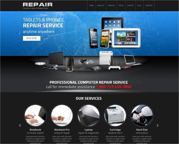 Free Computer Repair Website Template Beautiful 28 Puter Repair Website themes & Templates